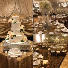 Crystal Light Banquets Chicago Stunning Gold Themed Wedding In 2019 Chicago Wedding