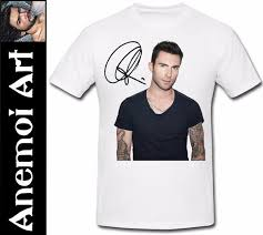 Adam Levine Size Chart T243 Adam Levine Maroon 5 T Shirt Tee T Shirt Autographed Signed Signature Xmas Funny T Shirts For Women Funny Shirt From Designtshirt 12 7