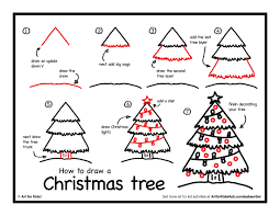 How To Draw A Christmas Tree - Art For Kids Hub -