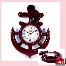 2a anchor wall clock w free battery p3008