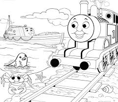 Small Picture Thomas And Friends Marine Animals Coloring Page Kids Coloring
