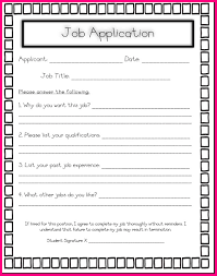 4 Simple Job Application For Students