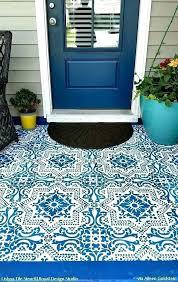 painted porch rug stencil porch floor stencils porch floor tiles painted tile stencils that anyone can