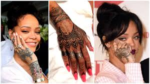 Best Henna Design Inspired By Rihanna Tribal Hand Tattoo Henna
