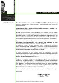 Lettera Di Presentazione Lettera Presentazione Arch Alessandro Altini By Alessandro