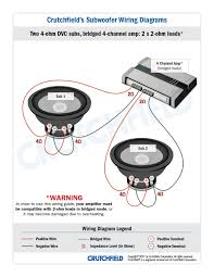 subwoofer wiring diagrams 2 dvc 4 ohm 4ch low imp