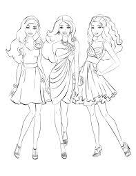 Elegant Barbie Coloring Pages Free Large Images Manahil Barbie