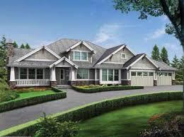 Modern Rambler with Upstairs Bonus Room (HWBDO55814) | Craftsman House Plan  from BuilderHousePlans.