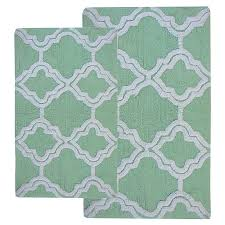 elegant bathroom rugs lovely chesapeake double quatrefoil bath rugs set of 2 than contemporary bathroom rugs