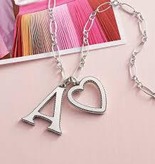 vintage alphabet pendant and heart