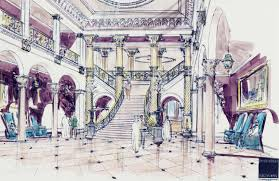 interior designers drawings. _-Luxury House Interiors In European And Traditional Mansion Castle Styles- Interior Designers Drawings
