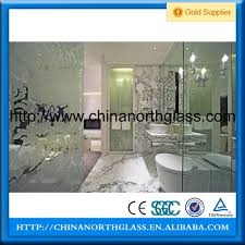 12mm clear tempered glass flat curved tinted glass door