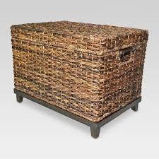 18 x18 wicker large storage trunk dark