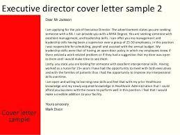Cover Letter For Executive Director Position Bitacorita