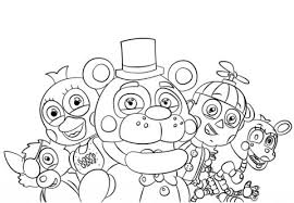 Cartoon Bonnie From Fnaf Coloring Pages Free 5 C Best Of Nights At