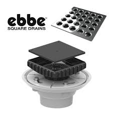 shower floor drain complete kit riser grate by ebbe america