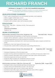 95 Resumes Examples For Receptionist Free Resume Templates For