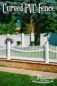 white fence panels. New Fence Ideas. White Vinyl Fencing Panels With Curves Are Available From Illusions