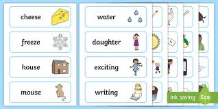250 free phonics worksheets covering all 44 sounds, reading, spelling, sight words and sentences! Rhyming Picture Cards Teacher Made