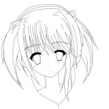 Anime Girl Coloring Pages For Kids With Anime Girl Coloring Pages