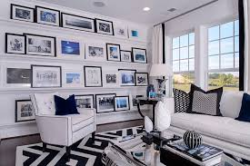 photo frame wall family room contemporary with black throw pillow metallic coffee table photo gallery