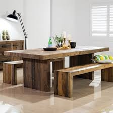 Buy Rustic Chunky Plank Recycled Wood Dining Set Industrial Furniture Wooden Bench Dining Table Elegant