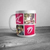 filled with l o v e photo mug