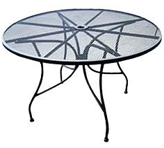 round metal patio table all about furniture round outdoor restaurant patio table mesh steel top vintage
