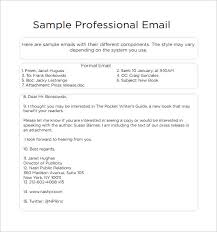 Free 7 Sample Professional Email Templates In Pdf