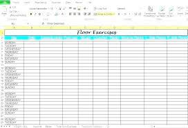 Workout Table Template Free Fitness Planner Template Gym Workout Word Plan