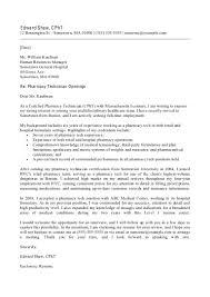 Resume Pharmacy Technician Assistant Cover Letter Best