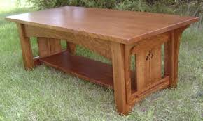 Mission oak coffee table mission style end table plans free diy ideas. New Coffee Table With Cut Out Design Phil Taylor Antiques Ottumwa Ia