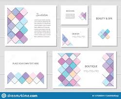 Fancy Flyers Brochures Flyers And Business Card Templates Set Mosaic