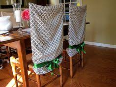 kitchen chair back covers. No Sew Pillow Case Chair Covers Kitchen Back E