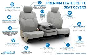 features of premium leatherette seat covers outdoor cover warehouse