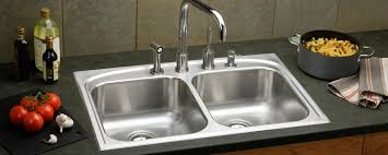 Double Kitchen Sink  Stainless Steel  Commercial  CROSSTOWN Elkay Stainless Kitchen Sinks