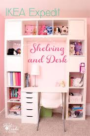 genius shelving unit and desk using an ikea expedit perfect storage solution for a child s