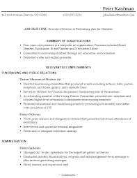 Sample Resume Nonprofit Executive Director Performing Arts p1 ...