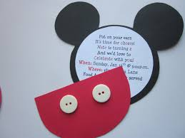 Make Your Own Mickey Mouse Invitations Photo Birthday Party Dresses Mickey Image