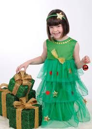Ruffled Christmas Tree Baby Little Girls Girls Christmas DressesGirls Christmas Tree Dress