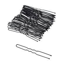 <b>Набор шпилек для волос</b> 50шт., металл, 6 см, черный (323-123 ...