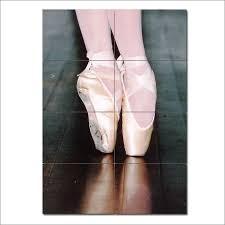 ballet shoes block giant wall art poster