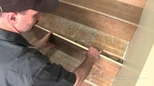 hardwood floor stairs installation video