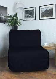 black poly cotton cover for ikea lycksele sofa bed