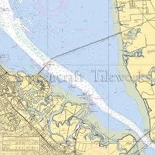 California Foster City San Francisco Bay Nautical Chart Decor