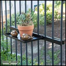 Balcony Railing Shelf with Mounting Bracket Click to enlarge