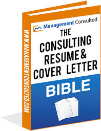 The Consulting Resume Cover Letter Bible Management Consulted