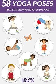 Basic Yoga Poses Chart 58 Fun And Easy Yoga Poses For Kids Printable Posters