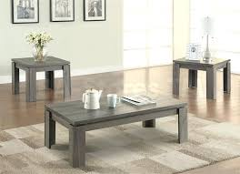 weathered grey 3 piece coffee table set inspiring living room accent sets ideas and teal