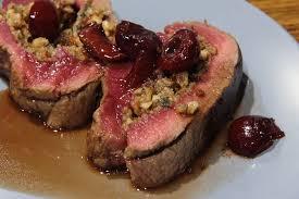 easy venison recipe with cherry sauce